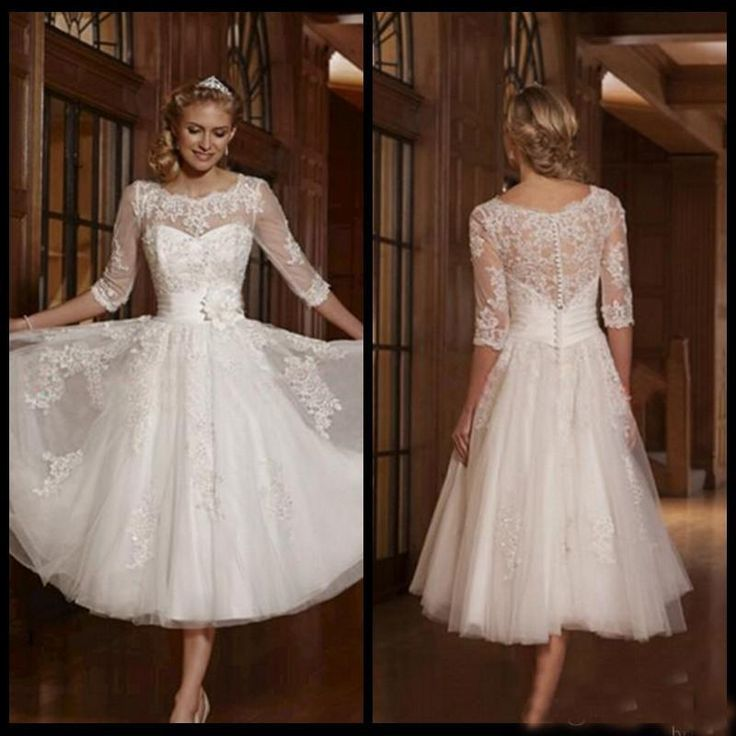 Beautiful  best wedding dresses images on Pinterest Wedding dressses Marriage and Tea length wedding dress