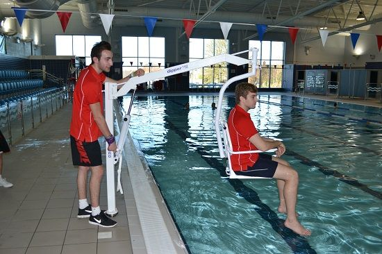 161 best images about hoists and lifting disabled patients on pinterest track pools and travel for Hydraulic chair lift for swimming pool