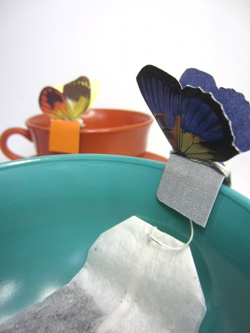 Make your own Butterfly Tea Bags (and other designs)