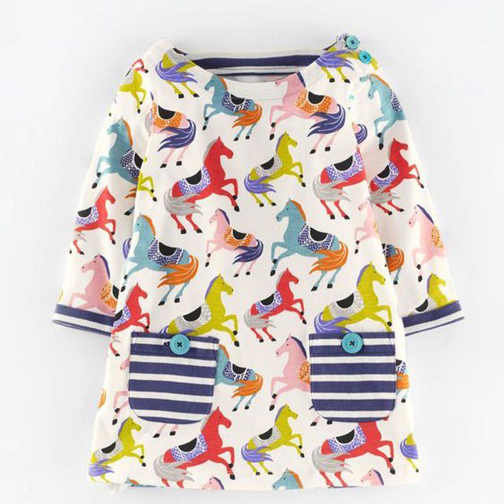 Christmas Dress Vestidos Fashion Animal Appliques Costume for Kids Cotton Girls Clothes Princess Dress Baby 2-7Years