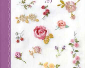 One Point Embroidery Best Stitch 750 Pattern - Japanese Craft Book - Fairy Tales, Animal, Border, Flower Motif - B961