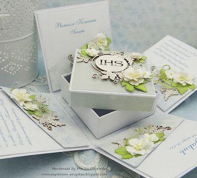 Papierowa przystań: Komunijne boxy z pudełkiem na prezent