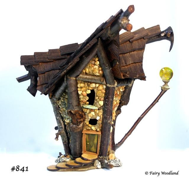 a good example of using Chatahoochie resin to build a stone fairy house durable enough to put outside.