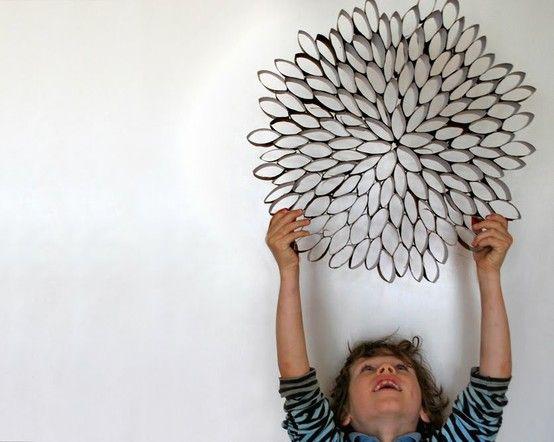 paper towel roll wall art!