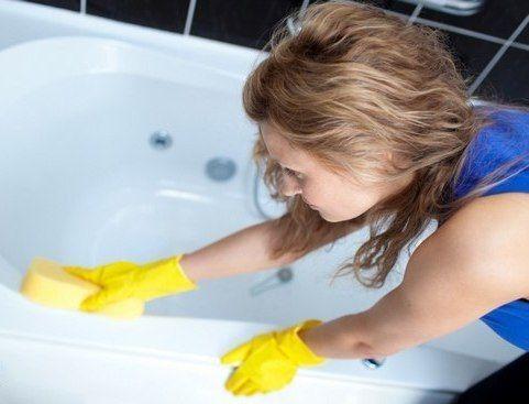 как сделать ванну белоснежной!