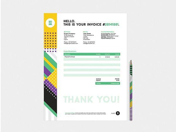 freelance graphic design invoice