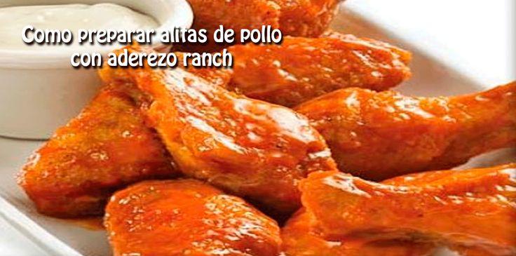 Como preparar alitas de pollo  con aderezo ranch