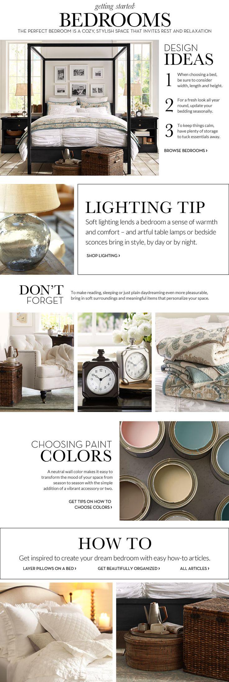 Bedroom Decorating Ideas | Bedroom Decorating Decor | Pottery Barn