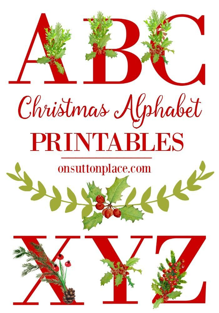 Christmas Alphabet Printables | Complete set of letters, numbers & punctuation | Perfect for banner making and DIY wall art. Holiday decor made easy!