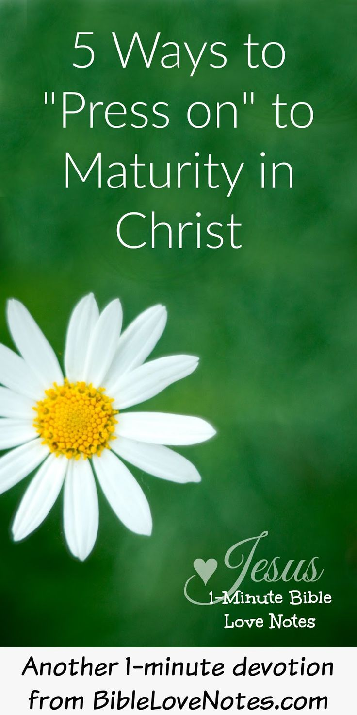 salvation in christ and growth to christian maturity Free christian study guides: god's simple plan of salvation, new christians   god's word presents steps we can take toward growth and spiritual maturity in  this.