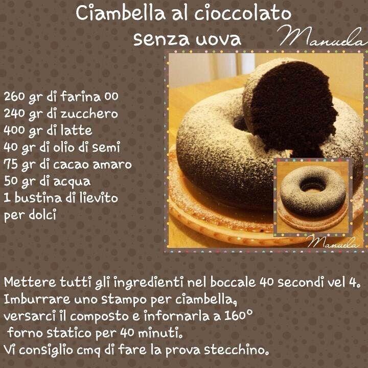 Ciambella al cioccolato senza uova