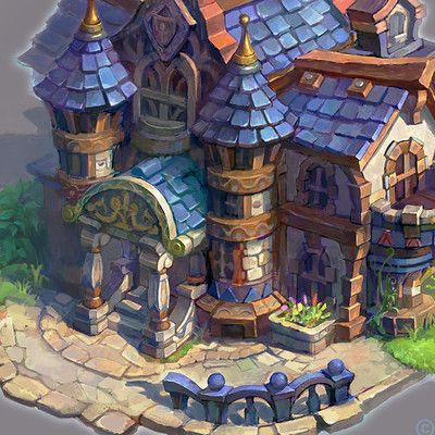 Sickingen's_mansion, Packsod 百草头 on ArtStation at https://www.artstation.com/artwork/Rz5Xe