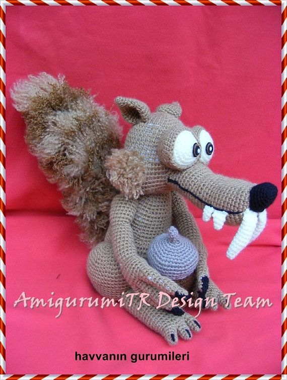 Scrat FROM ICE AGE-AmigurumiTRDesignTeam by AMIGURUMITRDESIGN
