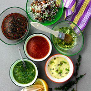 6 marinader til grill, grønt og salater opskrift