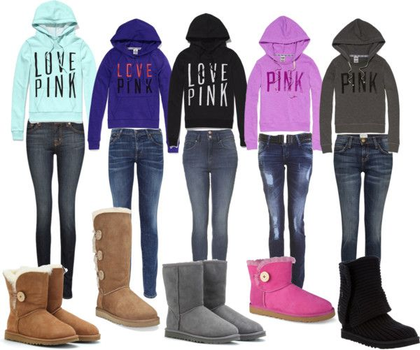 Pink Uggs Outfit