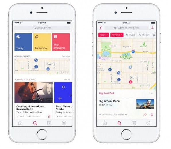 Facebook crea una app independiente para los eventos