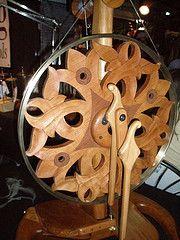 Prettiest spinning wheel I've ever seen. (lilfish1) Tags: art wool wheel festival sheep maryland spinning 2009 marylandsheepandwoolfestival