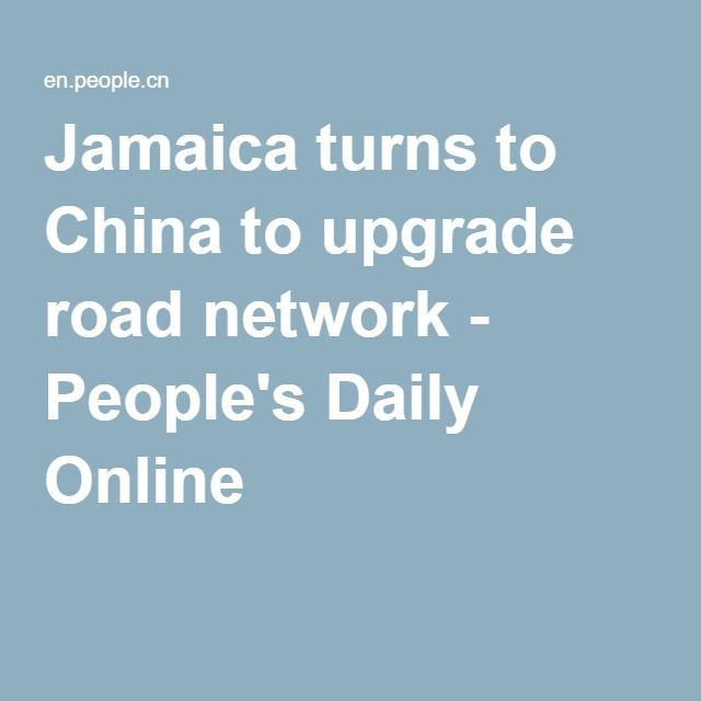 This is a remarkable yet possibly over looked story.  Jamaican roads are going to be upgraded with a loan from a Chinese company...to the tune of $384 million US dollars and Jamaica is going to put in $57 million.  So in total...a project $441 million US dollars is going to begin on this island nation.  This should have profound economic benefits for Jamaica and all of its inhabitants.  Remarkable.  Ken Megale