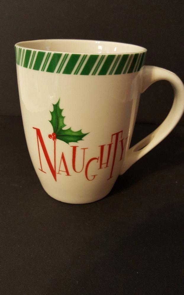 Lenox Naughty Christmas Holiday Coco Coffee Tea Mug Cup Lenox Chocolatecoveredcoffeebeans Tea Mugs Mugs Chocolate Covered Coffee Beans
