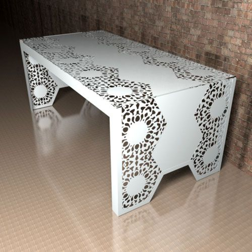 Manchester Lace Metal Dining Table