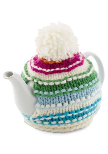 Cup of Cozy Teapot by Present TimeDecor, Yarns Crafts, Vintage Kitchens, Cups, Teas, Mod Retro, Modcloth Com, Retro Vintage, Cozy Teapots