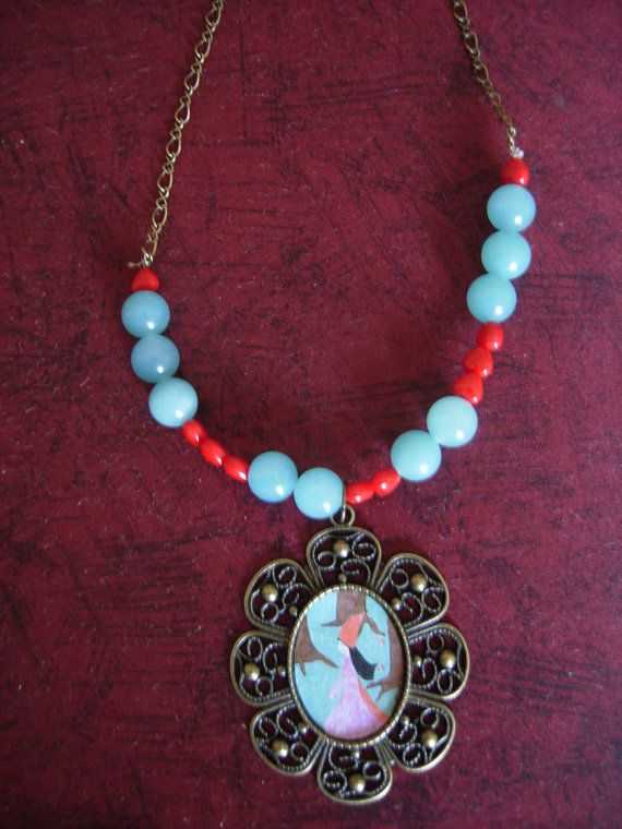 Searching the Light Art Illustrated Necklace with my by eltsamp, $38.00