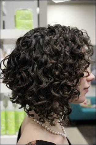 shoulder length curly inverted bob - Google Search