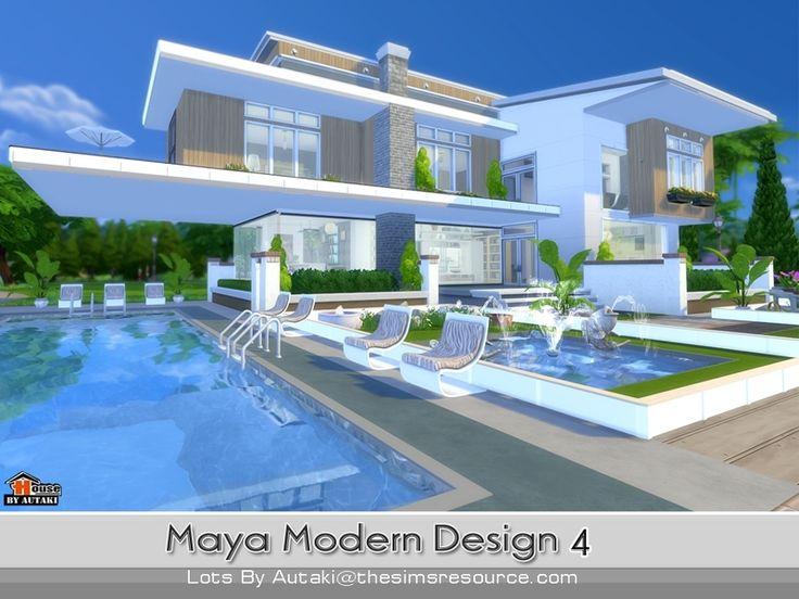 1000 images about maison sims 4 on pinterest. Black Bedroom Furniture Sets. Home Design Ideas