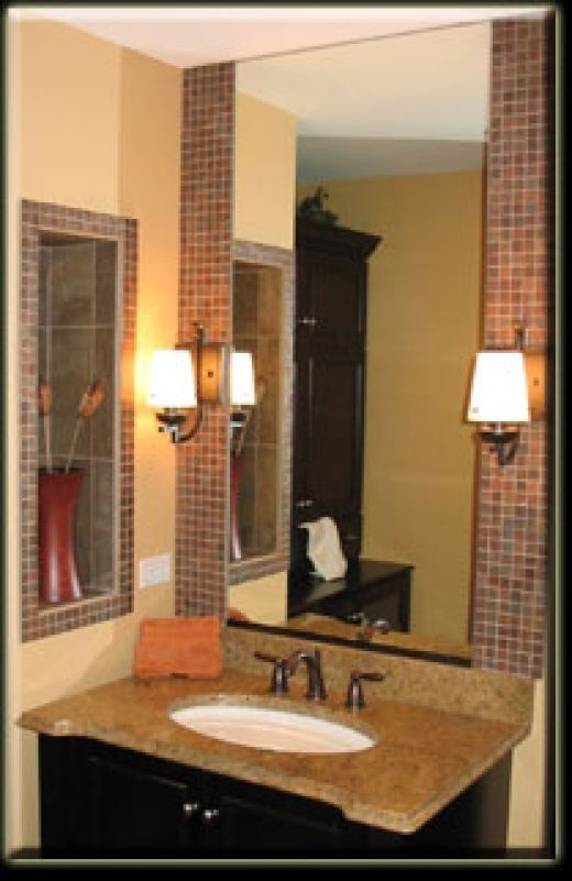 17 Best Images About Tile Work Behind Bathroom Mirror On