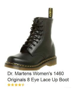 """Dr Martens Women's 1460 Originals 8 Eye Lace Up Boot 3 --- Finding just the right fit for your boots is important if you want comfort and healthy feet. Whether buying motorcycle boots, logger boots, lacer boots, cowboy boots, or steel toe boots, you'll want the best fit possible so you can enjoy your activities without aches and blisters. Here are some """"fitting"""" tips to remember when shopping for boots. #ladiesboots #fashion #highqualityboots"""