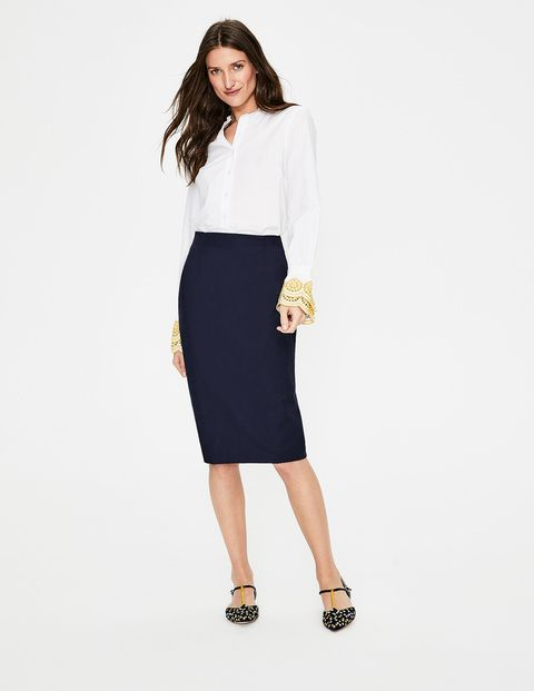 a43f1c854d386 ... style and feminine silhouette of a pencil skirt  You re going to love  this. Made with our power-stretch fabric