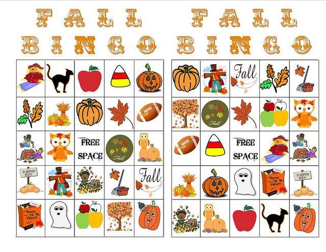 Fall Bingo I made this morning.  Pin & Enjoy