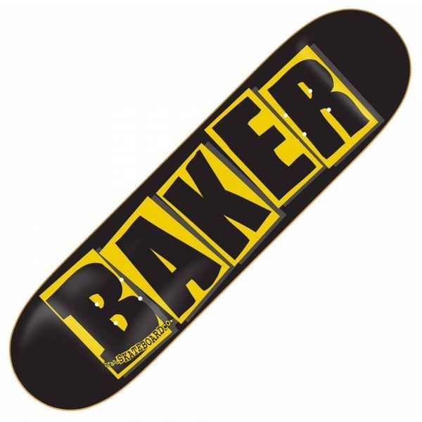 Baker Skateboards Baker Brand Logo Black Skateboard Deck 7.9'' - Baker... ❤ liked on Polyvore featuring skateboards