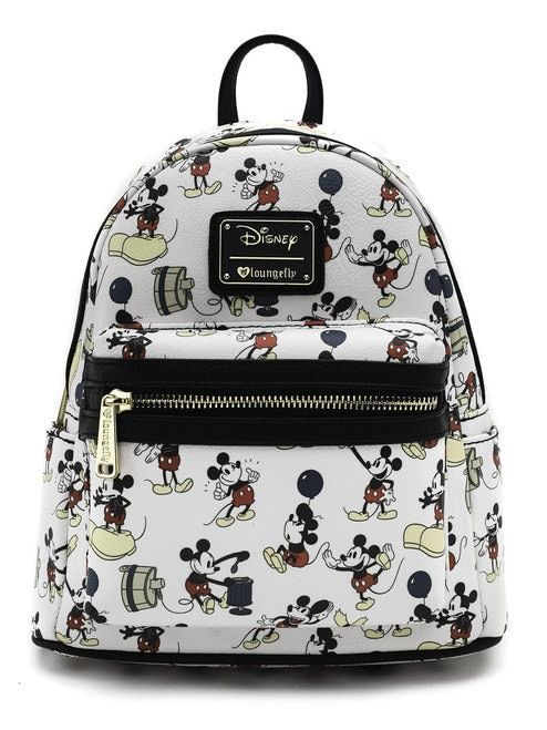 Loungefly x Mickey True Original Print Faux Leather Mini Backpack ... 3f938d57de04e