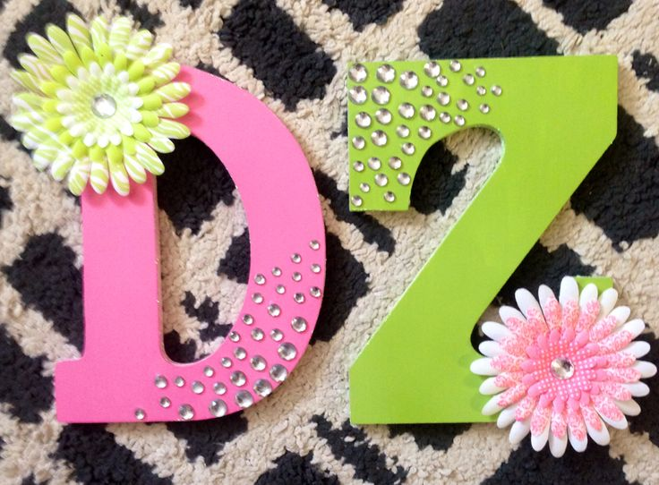 Delta zeta letters, in love with rhinestones, glitter and flowers!
