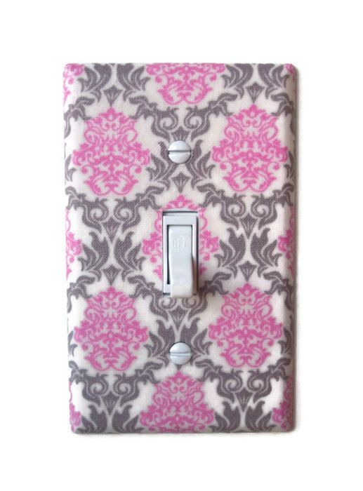 Romantic Chic Damask Single Toggle Switchplate