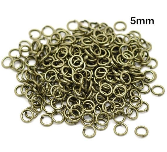 sold per packet of 1500 Bronze Tone Open Jump Rings 4mm Dia Findings