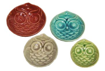 Hoot hoot! Owl lovers look this way~ UH71076 Stacking Owl Bowls / set of 4
