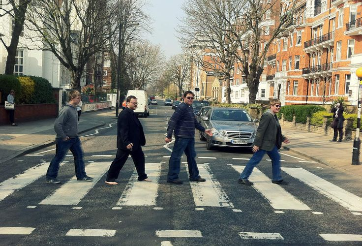 Watching stupid tourists on the new Abbey Road cam is hilarious