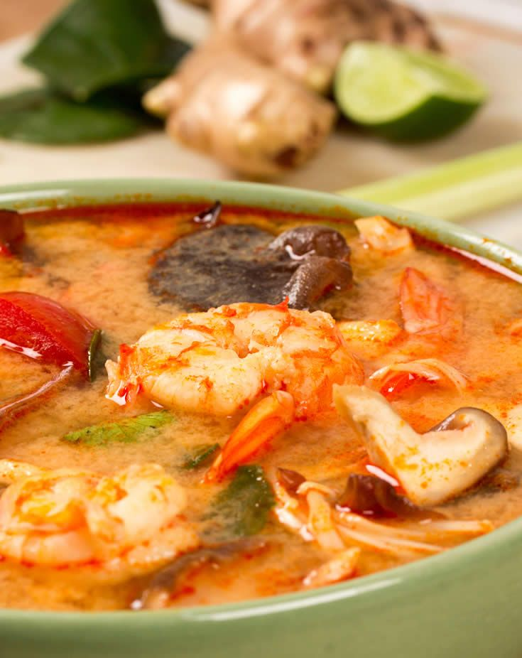 Tom Yam Kung - Thai Shrimp Soup - One of my favorite dishes! #recipes #food