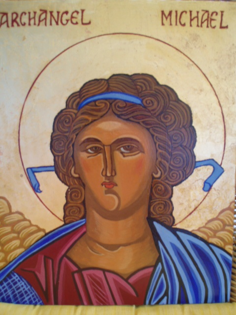Made with egg tempera and genuine gold leaf.