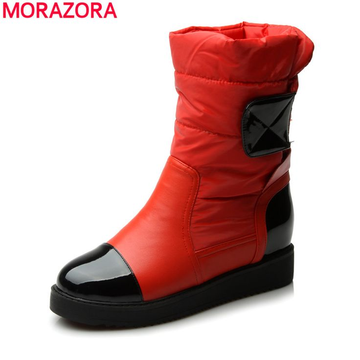 2016 new fashion flats snow boots down warm ankle boots women fashion thick fur inside platform cotton shoes #>=#>=#>=#>=#> Click on the pin to check out discount price, color, size, shipping, etc. Save and like it!