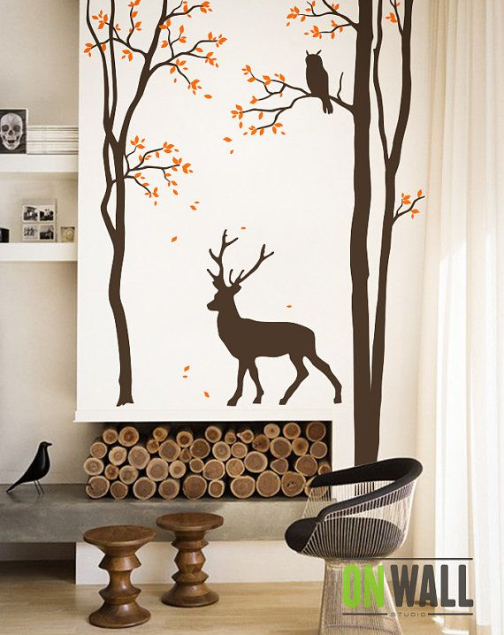 68 best deer wall decals images on pinterest wall decals for Deer wall mural