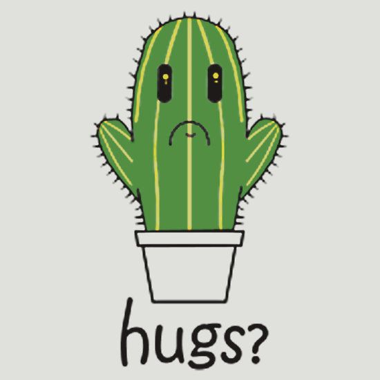 CACTUS HUG. THIS DESIGN AVAILABLE ON UNISEX T-SHIRT, PHONE CASE, MUG, AND 20 OTHER PRODUCTS. CHECK THEM OUT.