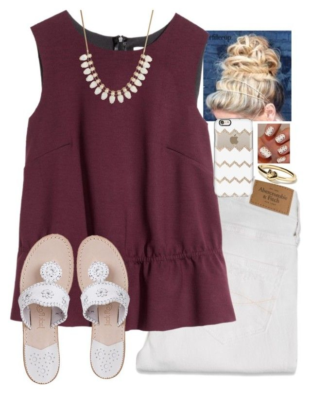 """""""Untitled #682"""" by julesnewkirk ❤ liked on Polyvore featuring Abercrombie & Fitch, Banana Republic, H&M, Jack Rogers, Talullah Tu, Casetify, women's clothing, women, female and woman"""