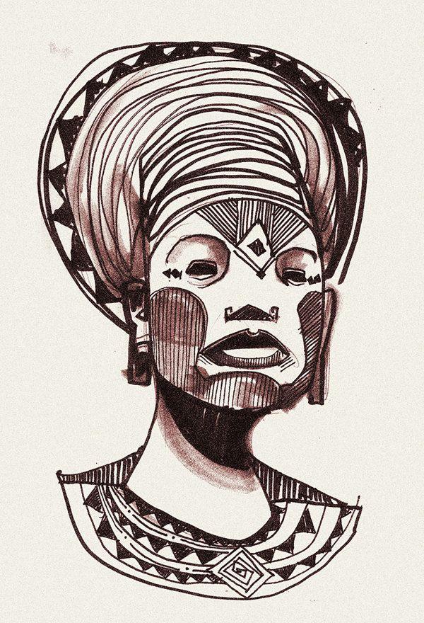 Selected Drawings by Denis Freitas, via Behance