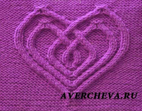 Cable pattern: 36 stitches, 40 row repeat - узор 816
