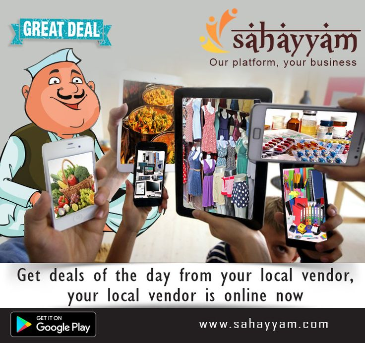 Get deals of the day from your local vendor, your local vendor is online now.  www.sahayyam.com Our platform, your business.  #Sahayyam #ShopOnline #Ecommerce #OnlineShopping#GooglePlayStore