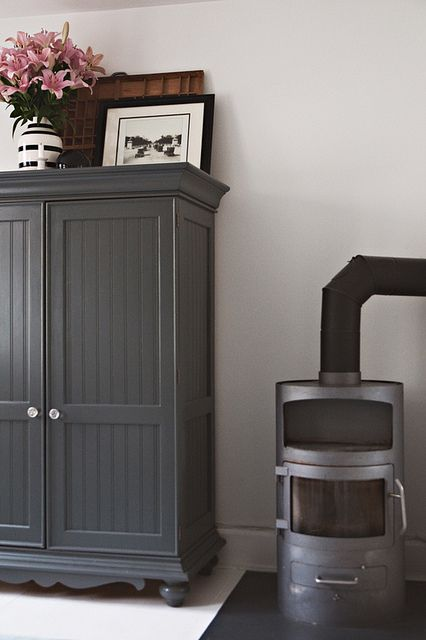 painted dark grey armoire   white walls. 17 best ideas about Grey Painted Furniture on Pinterest