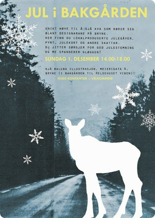 christmas poster - miss talseth illustration